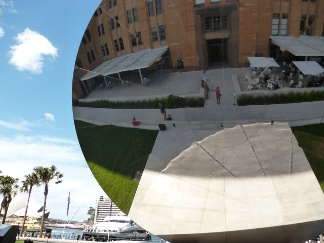 Anish Kapoor disc outside the museum