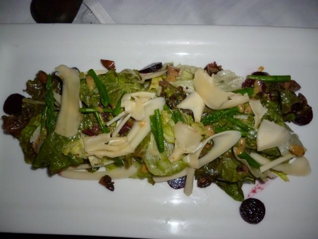 asparagus, arugula and hearts of palm salad