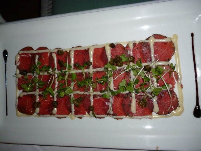 banging steak carpaccio
