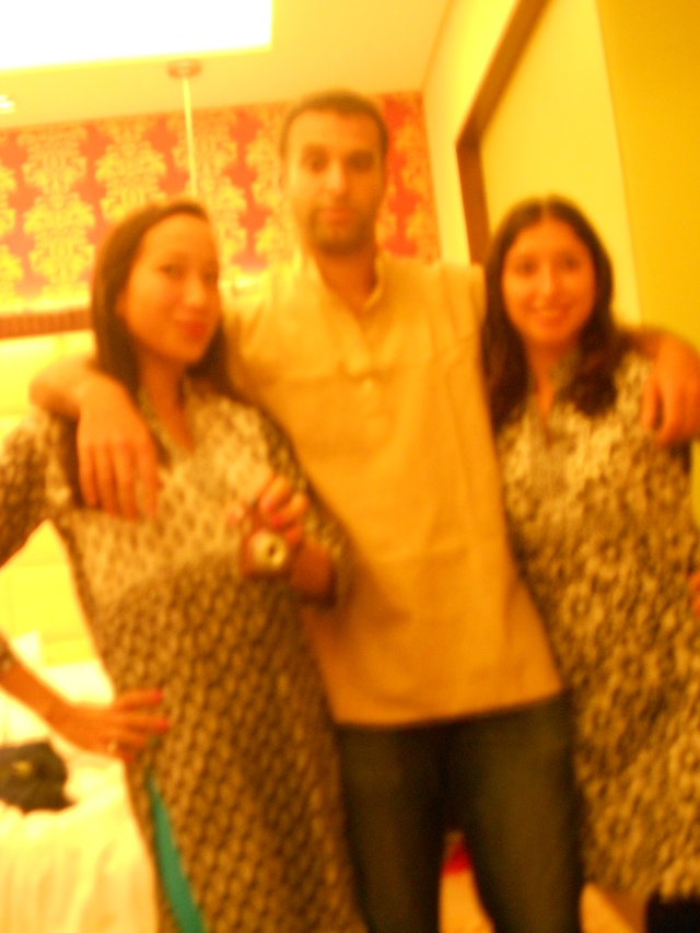 dressed in kurtas and ready to go